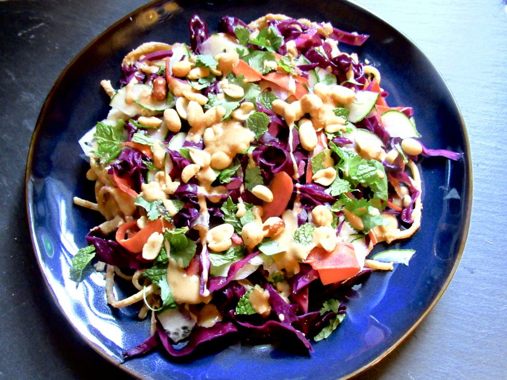Red Cabbage Chili Oil And Peanut Thai Salad